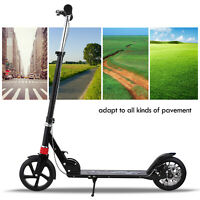 Adult Kick Scooter Foldable 3 Levels Adjustable Height 2 Wheel with Hand Brake~