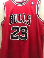 Michael Jordan Nike NBA Swingman Jersey Men's Red Bulls Rare L 50 Team Sports