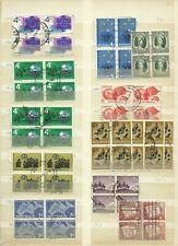 Australia used stamps in blocks of 4.