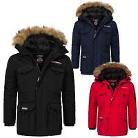 Geographical Norway Herren Winter Jacke Parka Winterjacke Mantel Outdoor H-263