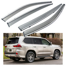 4Pcs Car Window Visor Vent Shade Deflector Sun/Rain for Lexus LX 570 2016-2020