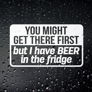 Beer In The Fridge Funny Campervan Sticker - Motorhome Caravan Vinyl Decal