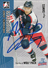 NIGEL DAWES WOLF PACK AUTOGRAPH AUTO 05-06 ITG HEROES & PROSPECTS #234 *22309