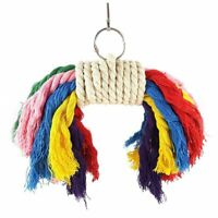 Parrot Colorful Rope Toy - Cage Toy for Playing Fits Small to Medium Birds T3V2