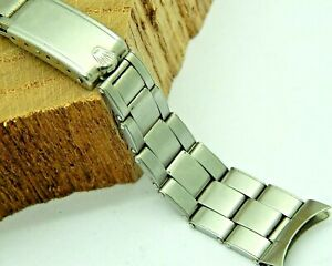 """Rolex Date Men's Oyster 7205 Bracelet 19mm Stainless Steel Band """"60"""" Ends 6694"""