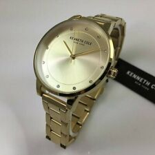 Brand new authentic Kenneth Cole Gold Tone Stainless Steel Watch KC50044003