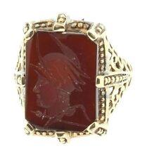Ladies antique intaglio filigreed ring 14k Rose Gold size 7