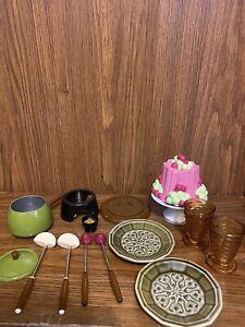 American Girl Doll Julie's Fondue Set (Read Description)