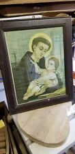 Vintage St Anthony Of Padua Picture. 50s/60s?