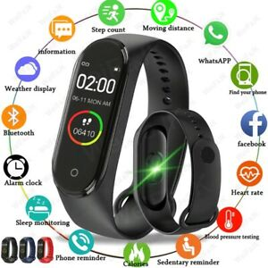 Smart Watch Waterproof Blood Pressure Heart Rate Monitor Fitness Bracelet