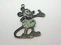 Vintage 1930s Metal and Enamel Green Pants Mickey Mouse Charm