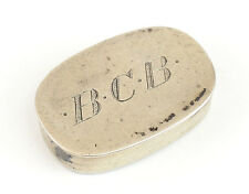 R. Blackinton Sterling Silver Oval Pill Box Gold Wash Interior, c1900 7.86g