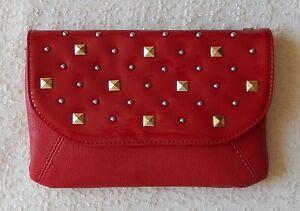 NEW Grace Adele FAITH Scarlet Clutch Purse Bag 22 inch detachable strap HTF