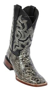 Men's Quincy Sea Turtle Print Leather Western Cowboy Boots Wide Square Toe