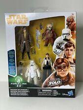 "Star Wars Han Solo Movie Mission On Vandor-1 Force Link 4 Pack 3.75"" Figure New"