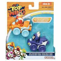 NEW Nick Jr Top Wing Racers Swift and Baddy Action Figure Toy Race Cars
