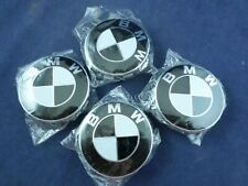 Set of 4 Pieces black white 68mm Center Wheel Hub Caps for BMW All Models Wheel