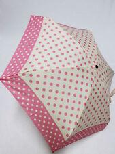 Pierre Cardin Mini Schirm Damen rosa Regenschirm mit Punkten 18 cm petito pois