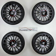 OZ Racing 7Jx18 Superturismo GT Räder, black - red lettering, 215/35R18 Kumho