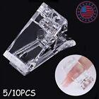 Nail Tips Clip Quick Building Polygel Plastic Finger UV  Manicure Tool 5/10 PCS