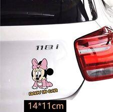 Cute Minnie Girl Baby in car Car Decal Car Sticker - 1pc