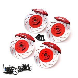 4pcs/set Metal Brake Disc Caliper for 3RACING Sakura D5 D5S RC Crawler Car Part