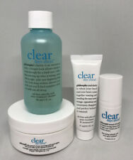 Philosophy 4p Clear Days Ahead Acne Kit Salicylic Cleanser Lotion Treatment Pads