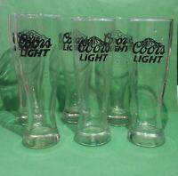 Coors Light Beer Pilsner Glass 1.5 pint, Set of 6