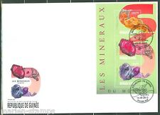 GUINEA 2013 MINERALS   SHEET FIRST DAY COVER