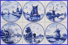 -- Fliesen Delfter Art, 15x15 Kacheln blau weiß tile ohne Nelken --