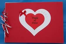 Beautiful A5 Personalised Hearts Photo Album / Scrap or Memory Birthday Book