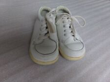 Vtg Boys Classic STRIDE RITE Baby Toddler WHITE Leather Dressy Shoes Size 5 5D