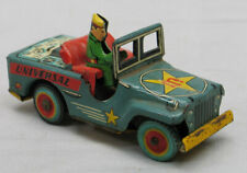 "Vintage 1950's Tin Friction Jeep  ""Universal Jeep""  Made in Japan"