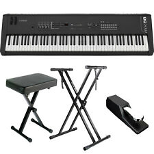 Yamaha MX88 88-Key GHS Music Synthesizer BUNDLE W/ Stand, Bench, Pedal *New*