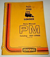Mustang 1700 Skid Steer Loader Parts Manual Catalog Book Original 578 Owatonna