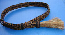 "Western Cowboy/Cowgirl HAT BAND Woven 7 Strand Horsehair 7/8"" Wide W/Tassel"