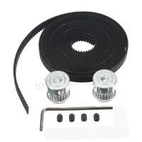 """118"""" GT2 Timing Belt & 2PCS GT2 Pulley 16T Bore 5mm 3D Printer For RepRap"""