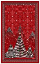 BEAUVILLE, FORET ROUGE (FOREST, RED) HOLIDAY FRENCH KITCHEN / TEA TOWEL, NEW