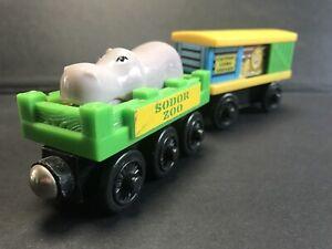 Thomas & Friends Wooden Railway. Sodor Zoo's Hippo & Lion Cars