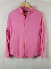 Polo Ralph Lauren Mens Gingham Lined Shirt Large L Regular Fit Button Down Pink