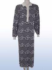 abito donna polpaccio vintage bianco nero taglia L LARGE manica lunga