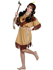 Ladies Womens Native Indian Warrior Pocahontas Tigerlilly Fancy Dress Costume