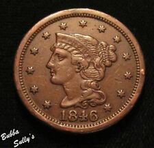 1846 Braided Hair Large Cent <> N-11 R1 <> Very Fine