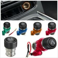 12V Car Cigarette Lighter Power Socket Plug Outlet Waterproof Cover 4Colors/Set