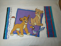 Vintage Disney Lion King 2-Sided Pillowcase Standard Size Simba NalaTimone Pumba