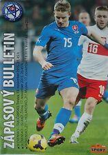 off. Program 2015 Slovakia - Switzerland Iceland Holland (U21)