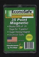 1 Box of 25 Econosafe Brand 35pt Magnetic One Touch Card Holders 35 pt.UV SAFE