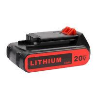 NEW 20VOLT 2000mAh Li-ion Battery for Black & Decker LBXR20 LBX20 LDX120C