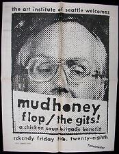 MUDHONEY Rckcndy 1992 ORG Concert POSTER Chicken Soup Brigade BENEFIT Gits Flop
