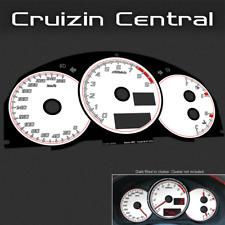 Plastic WHITE DIALS for Subaru BRZ Toyota 86 GT GTS gauge speedo dial cluster